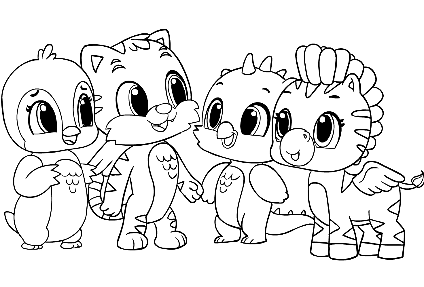 Hatchimals Coloring Page - Drawing 5