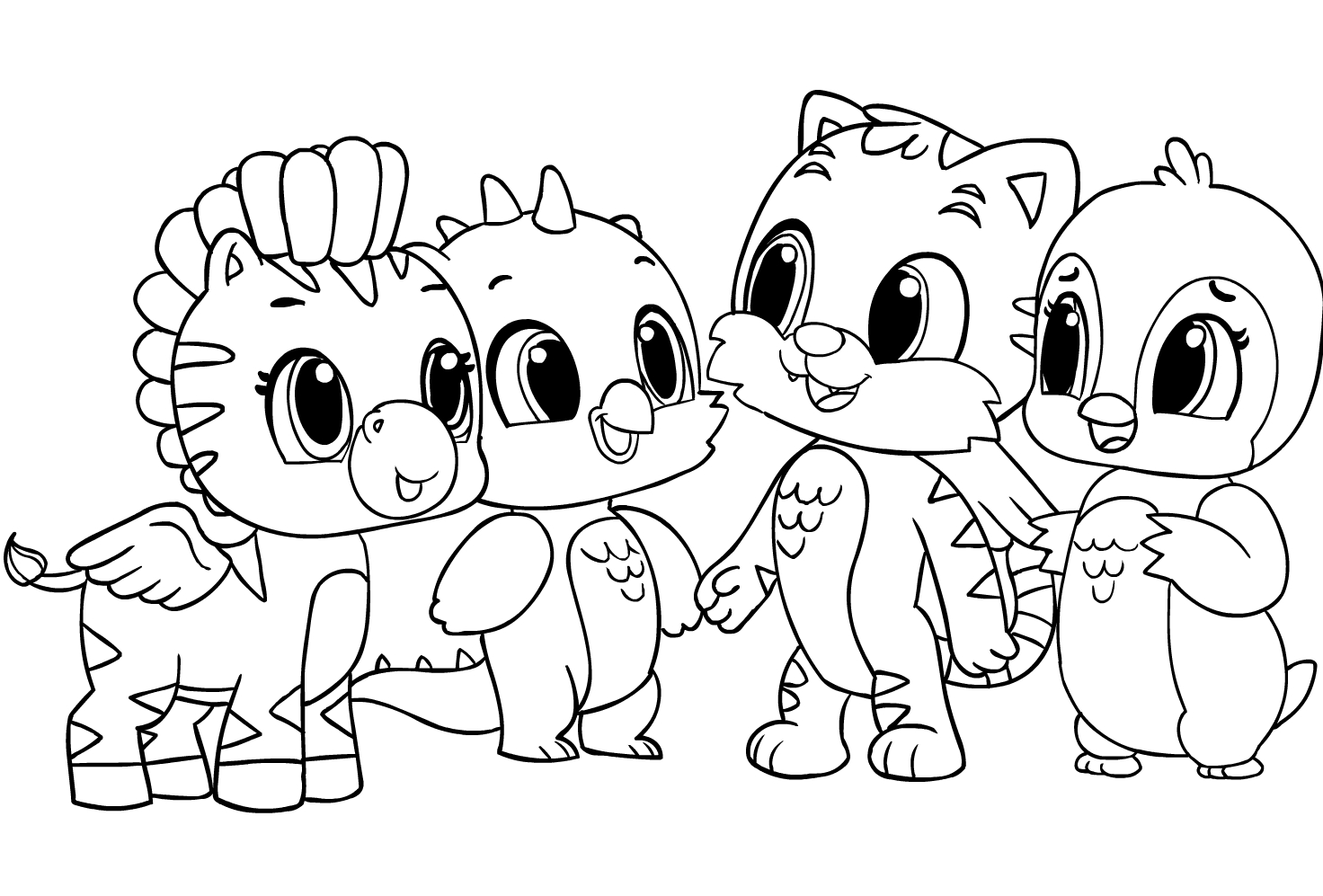 Hatchimals Coloring Page Drawing 6