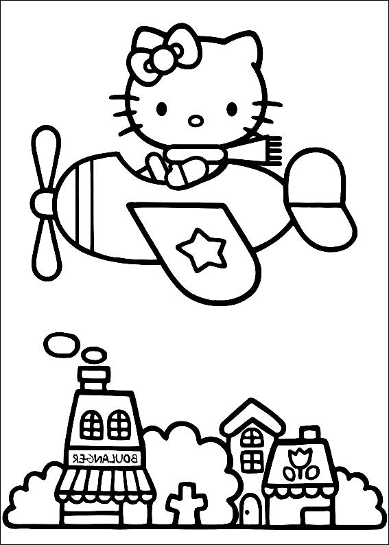 Disegno 5 Di Hello Kitty Da Colorare