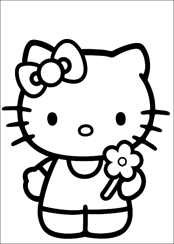 Drawing 8 from Hello Kitty coloring page