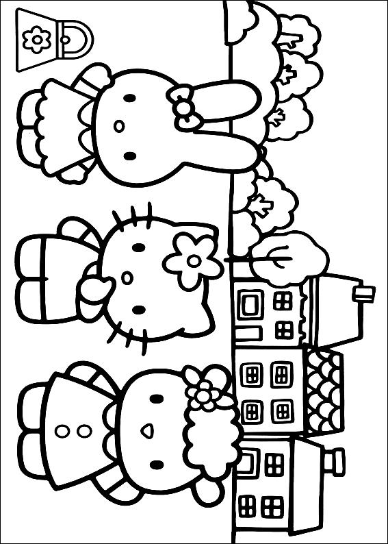 Disegno 9 Di Hello Kitty Da Colorare