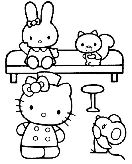 Disegno 19 Di Hello Kitty Da Colorare