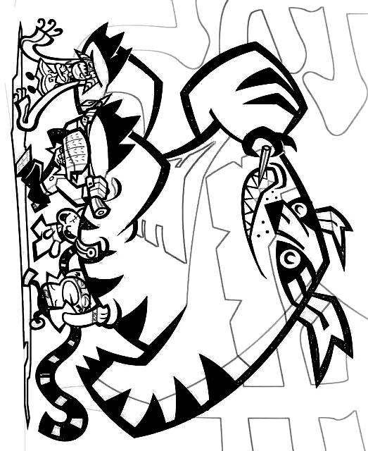Dibujo 1 de Hero 108 para imprimir y colorear