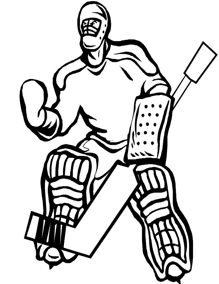 ausmalbilder eishockey torwart  kinder ausmalbilder