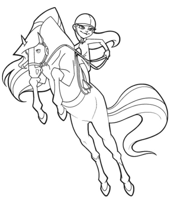 ausmalbilder 3 horseland