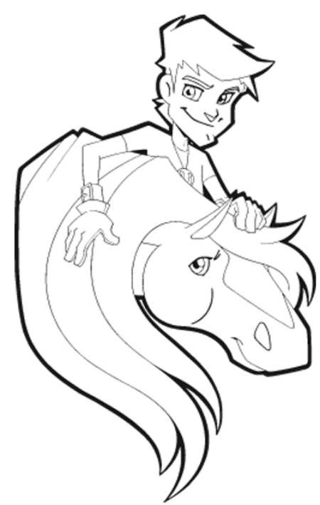 Horseland Coloring Pages   ColoringMates.   Coloring pages, Puppy ...   709x450