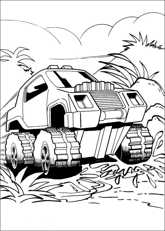 Hot Wheels coloring page - Drawing 2