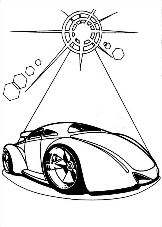 Dibujo 6 De Hot Wheels Para Colorear
