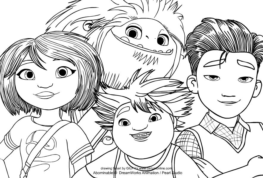 Dibujo de Abominable de Abominable para imprimir y colorear