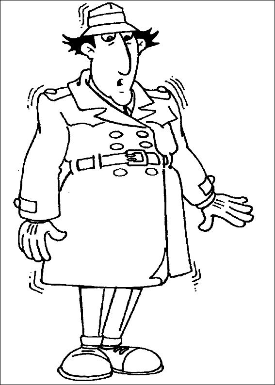 Disegno 1 dell'Ispettore Gadget da stampare e colorare