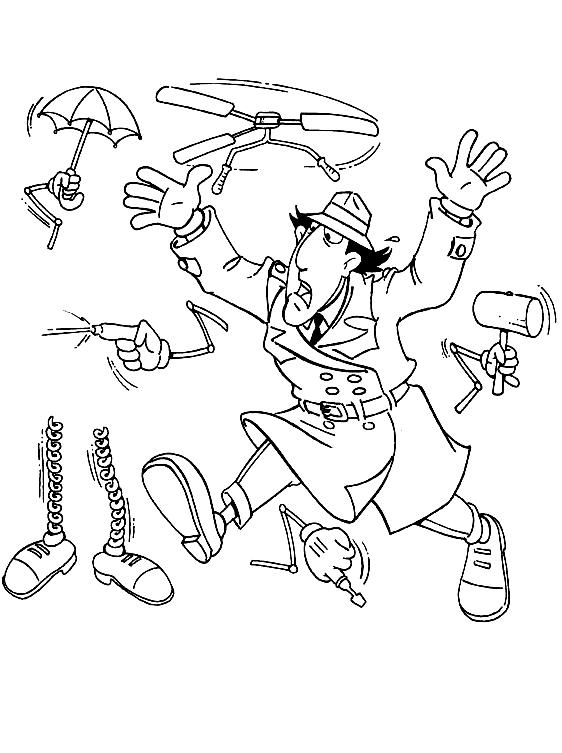 Disegno 2 dell'Ispettore Gadget da stampare e colorare