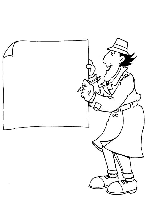 Disegno 3 dell'Ispettore Gadget da stampare e colorare