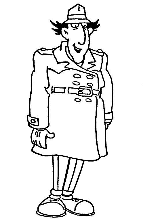 Disegno 6 dell'Ispettore Gadget da stampare e colorare