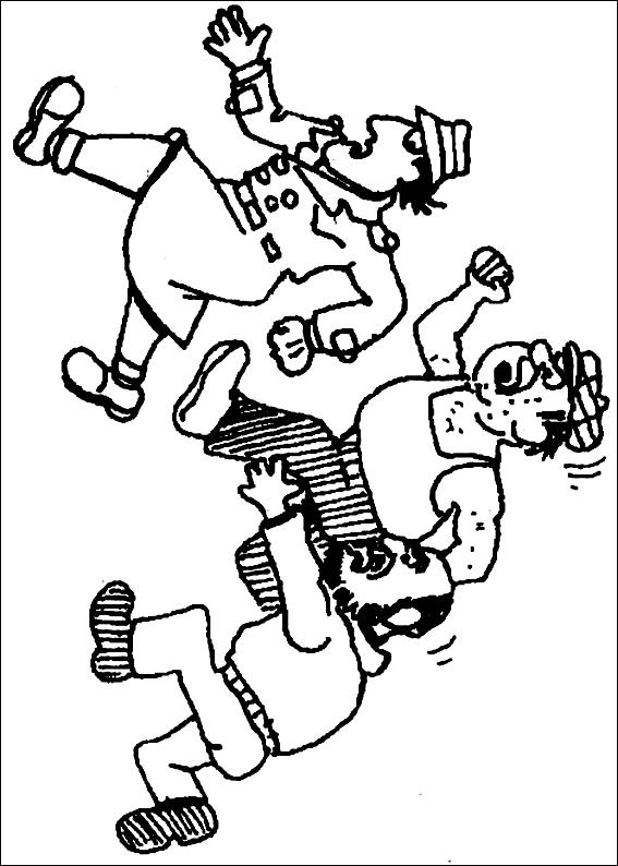 Disegno 7 dell'Ispettore Gadget da stampare e colorare