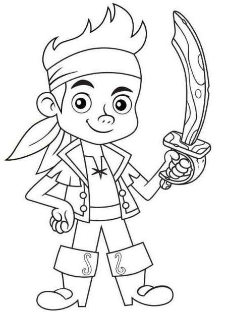Desenho 1 De Jake E Os Piratas Da Terra Do Nunca Para Colorir