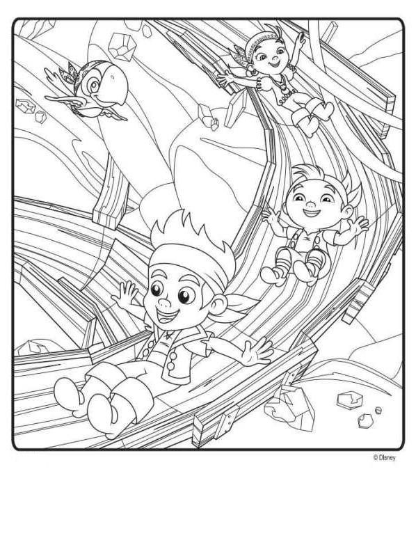 Coloriage 4 de Jake et les PiratesduPaysimaginaire imprimeretcolorier