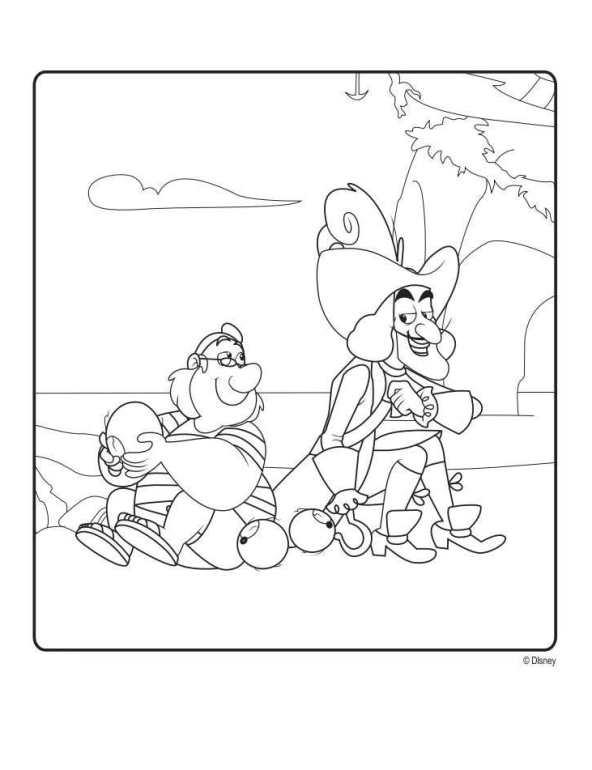 Desenho De Jake E Os Piratas Da Terra Do Nunca Para Colorir