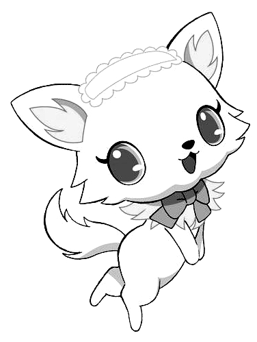 Drawing 3 from Jewelpet coloring page to print and coloring