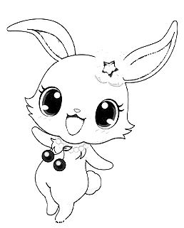 Drawing 6 from Jewelpet coloring page to print and coloring