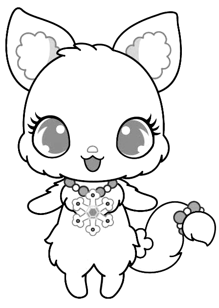 Drawing 7 from Jewelpet coloring page to print and coloring