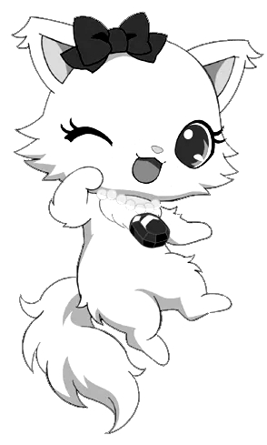Drawing 10 from Jewelpet coloring page to print and coloring