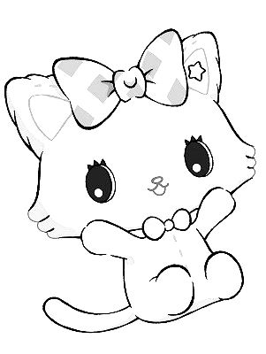 Drawing 11 from Jewelpet coloring page to print and coloring