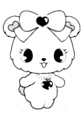 Drawing 12 from Jewelpet coloring page to print and coloring