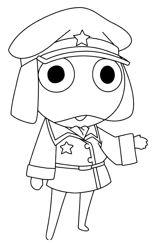 Drawing 4 from Keroro coloring page to print and coloring