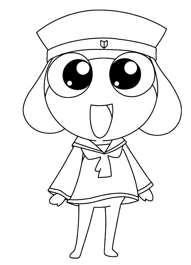 Drawing 5 from Keroro coloring page to print and coloring
