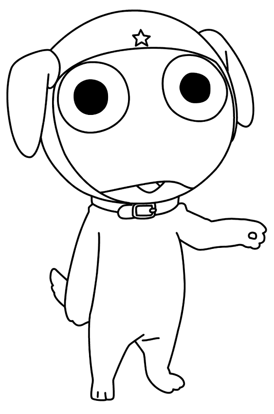 Drawing 6 from Keroro coloring page to print and coloring