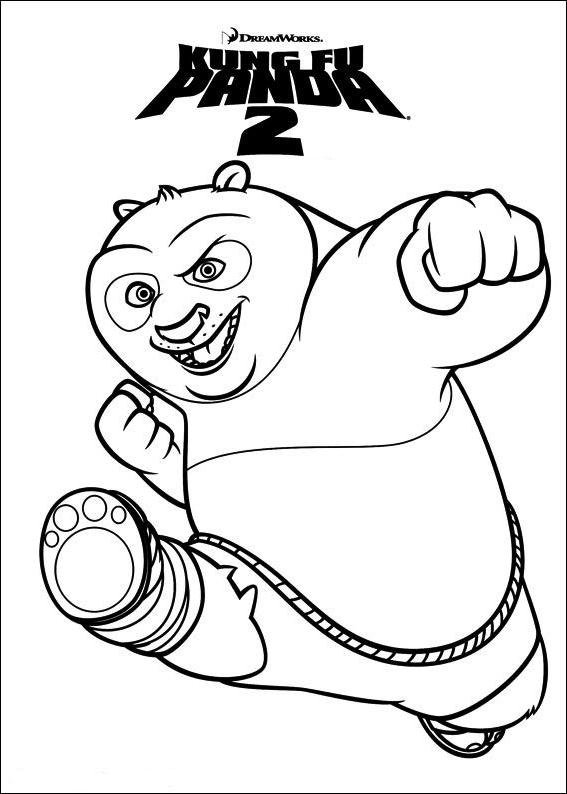 Coloriage 1 De Kung Fu Panda 2