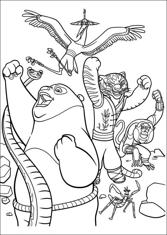 Kung Fu Panda 2 Coloring Page Drawing 6