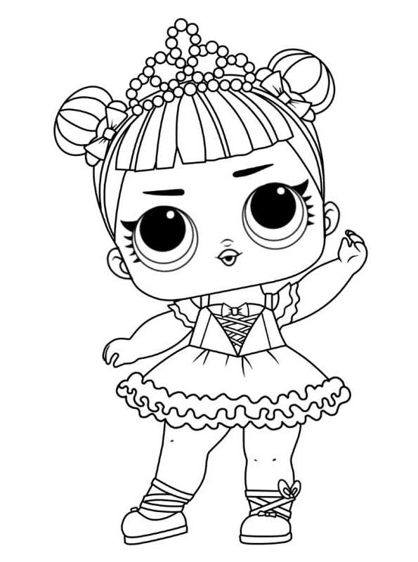 Drawing 3 From Lol Surprise Coloring Page