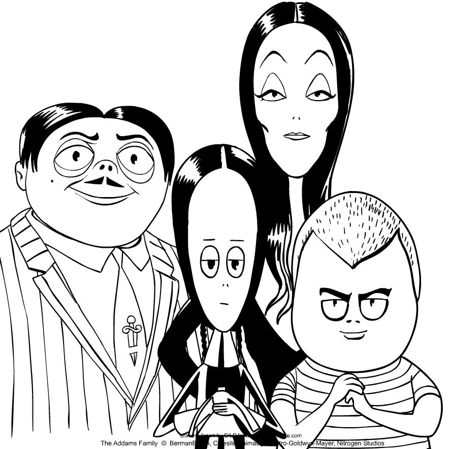 Desenho De A Familia Addams De A Familia Addams Para Colorir
