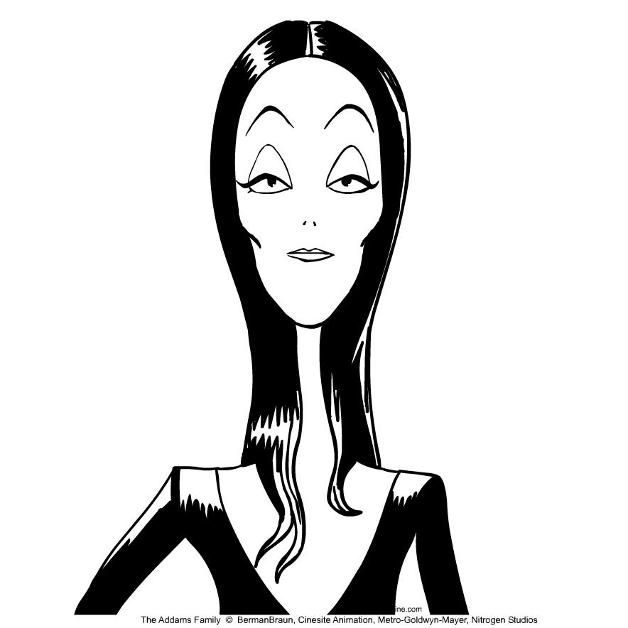 Disegno Della Morticia Addams De La Famiglia Addams Da Colorare