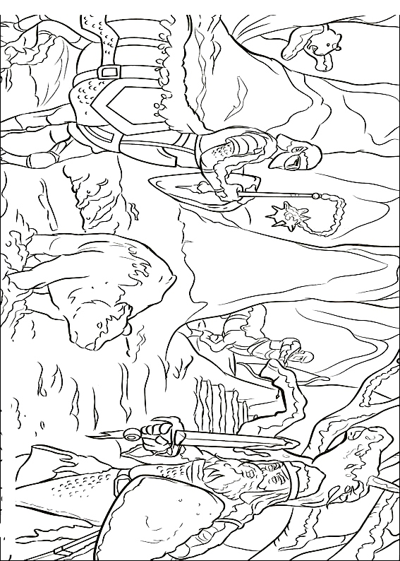 ナルニア国物語の図2を印刷して色付け