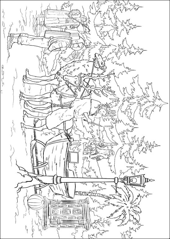 ナルニア国物語の図4を印刷して色付け