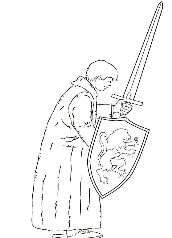 ナルニア国物語の図6を印刷して色付け