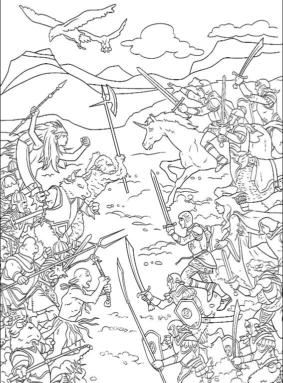 Suunnittelu 8 from Narnian tarinat värityskuvat tulostaa ja värittää