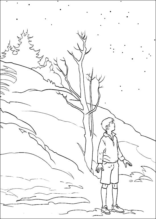 ナルニア国物語の図11を印刷して色付け