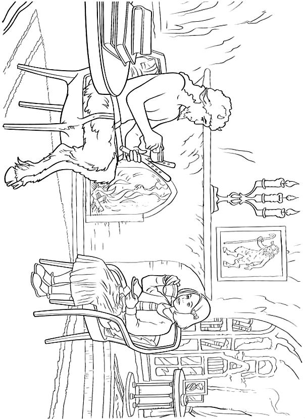 Suunnittelu 12 from Narnian tarinat värityskuvat tulostaa ja värittää