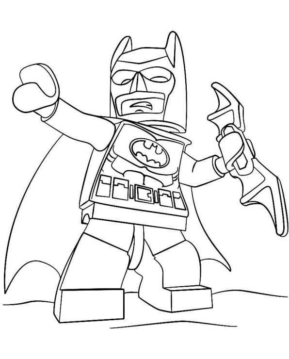 Dibujo 3 De Lego Batman Para Colorear