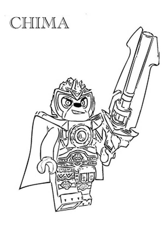 Disegno 4 di Lego Chima da stampare e colorare