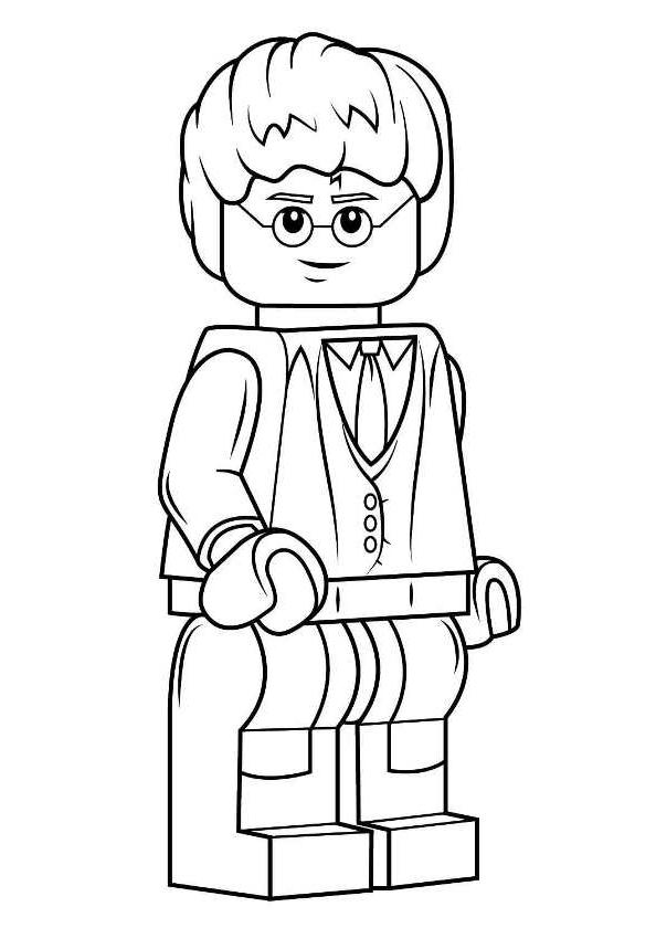 Desenho 1 De Lego Harry Potter Para Colorir