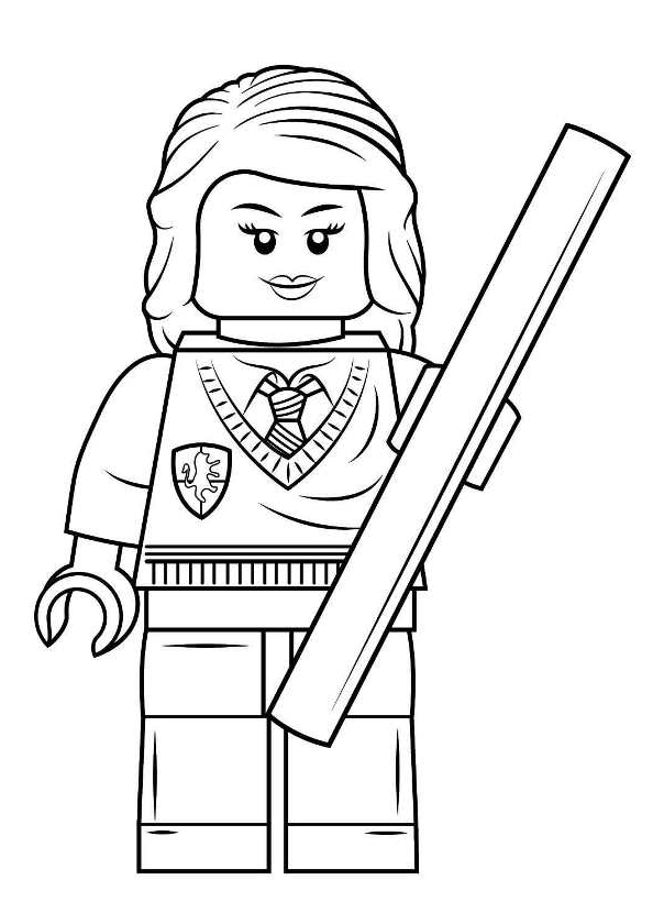 Desenho 2 De Lego Harry Potter Para Colorir