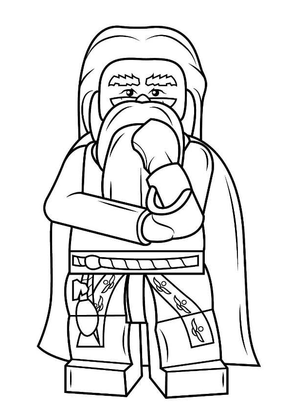 - Lego Harry Potter Coloring Page - Drawing 3