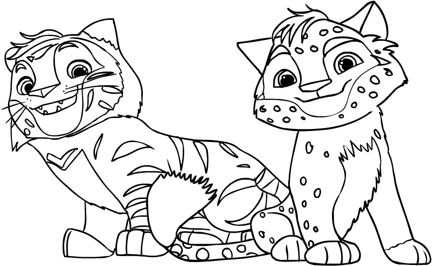 Leo & Tig coloring page to print and coloring - Drawing 1