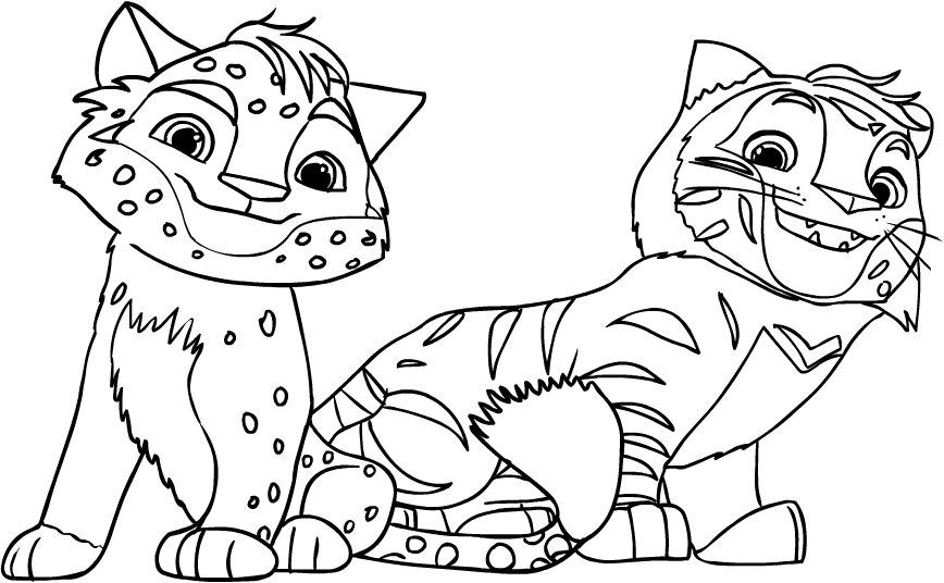 Leo & Tig coloring page to print and coloring - Drawing 2