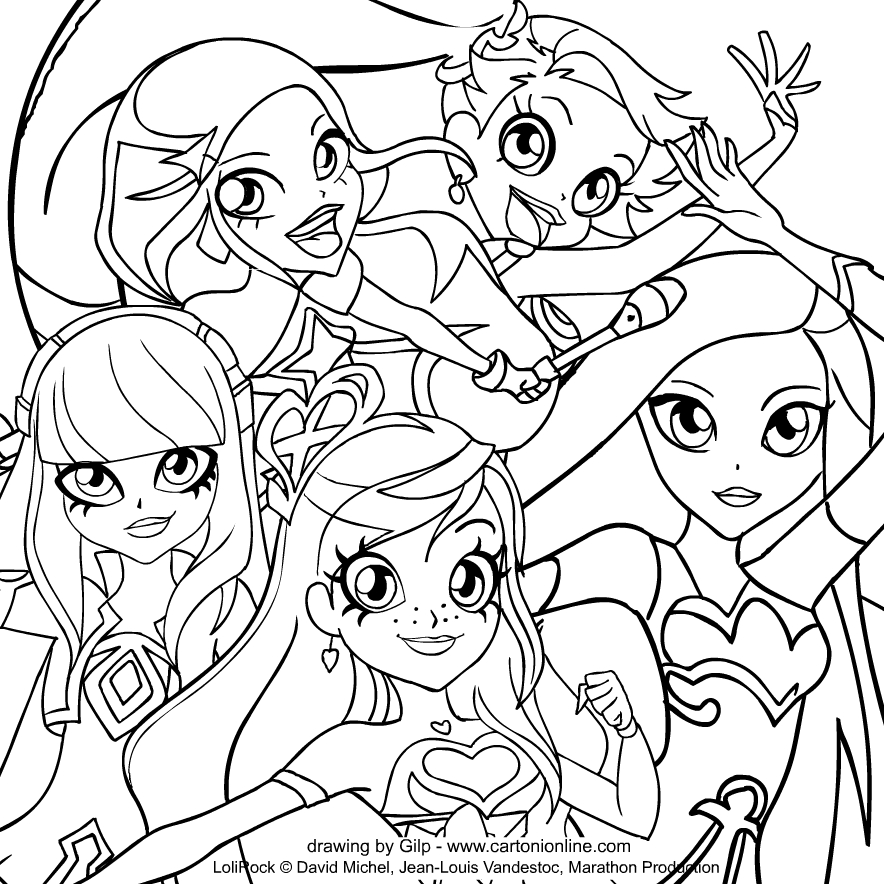 Drawing of LoliRock coloring page