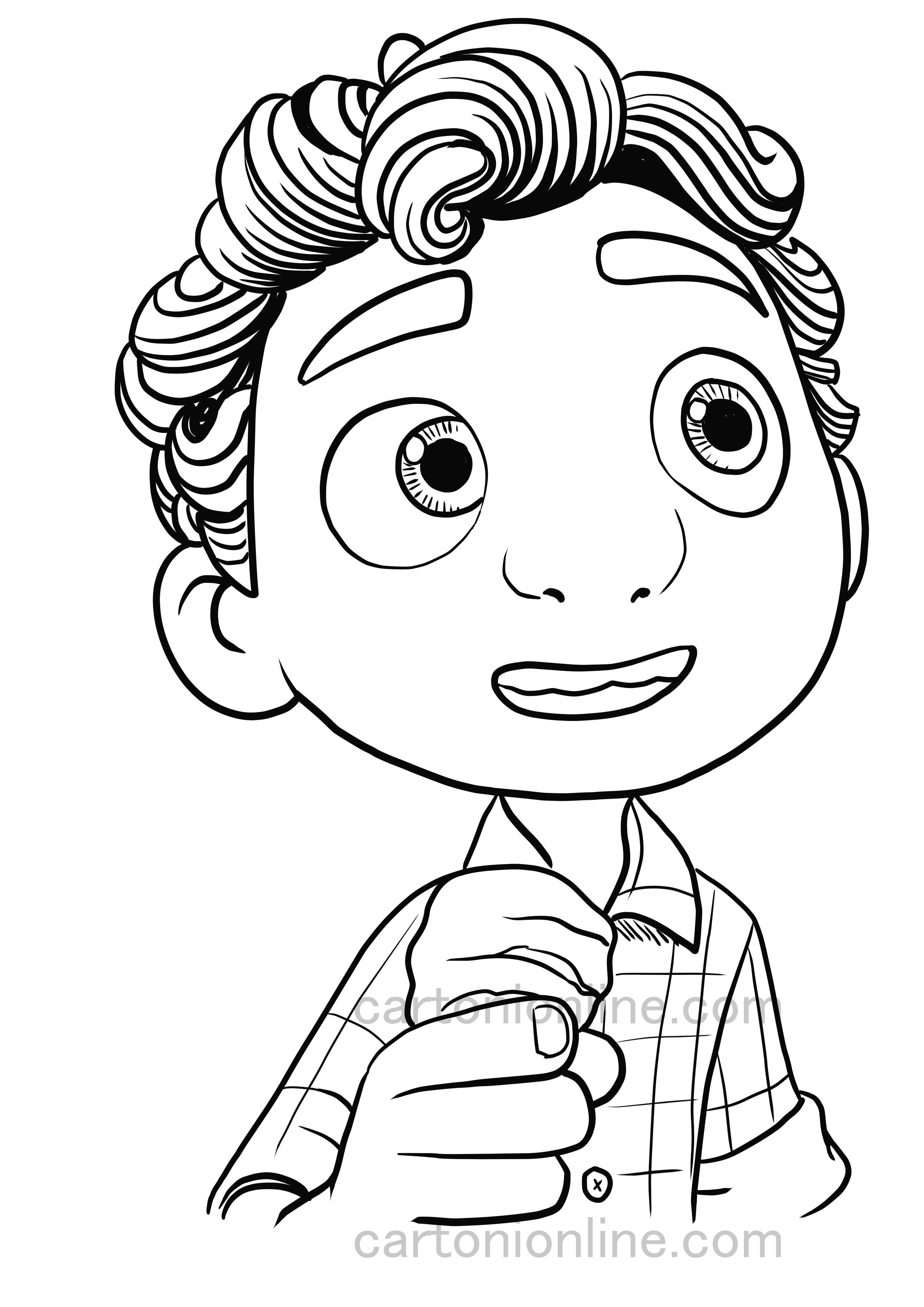 Desenho de Luca Paguro de Luca, 또는 Disney Pixar에서 imprimir 및 colorir에 이르는 영화